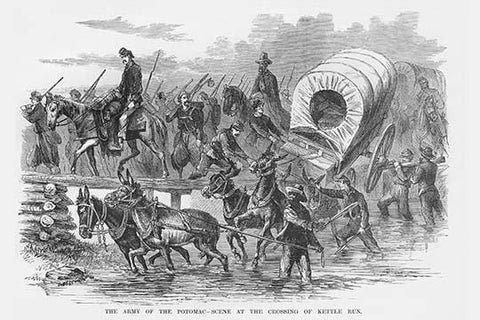 Crossing at Kettle Run by Wagons & Mules