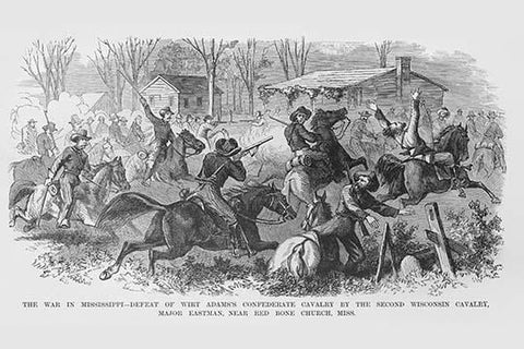 Defeat of Wirt Adams Confederate Cavalry by the 2nd Wisconsin