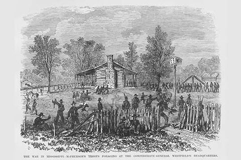 Foraging by McPherson's troops at General Whitfield's Confederate Headquarters