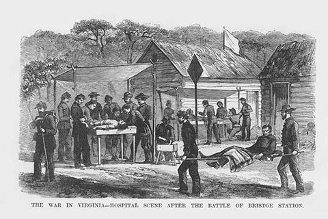 Hospital after the Battle of Bristoe Station
