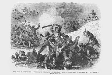 Confederate Troops Massacre at Fort Pillow; Black troops Massacred by Nathan Bedford Forest