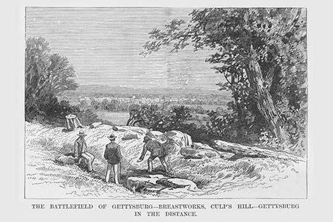Breastworks on Culp's Hill - Gettysburg