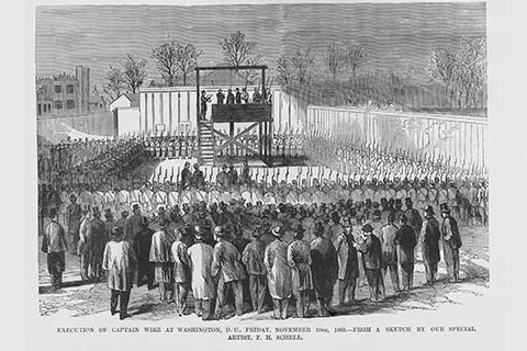 Execution of Captain Wirz in Washington DC by Hanging