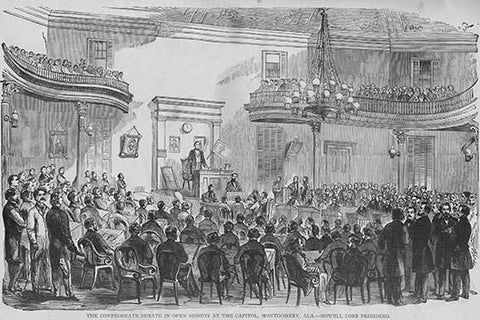 Confederate Senate convenes in Montgomery, Alabama