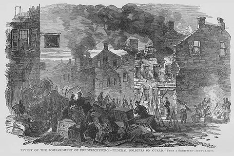 After Bombing of Fredericksburg, troops occupy