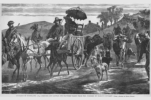 Driving off Plunder taken from Farmers by Early's Cavalry