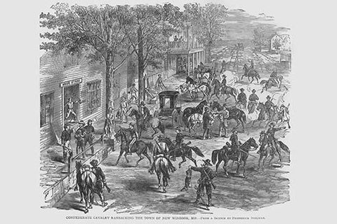 Confederate Cavalry ransacks the town of New Windsor