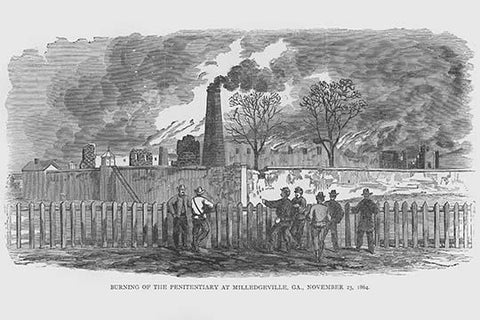 Burning the Penitentiary in Milledgeville, Georgia