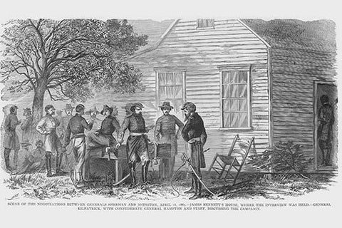 Surrender Negotiations between Sherman & Johnston at Bennett's House