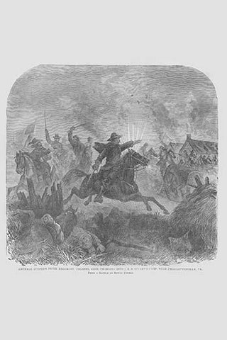 General Custer Unit Charges into Stuart's Camp, Colonel Ashe