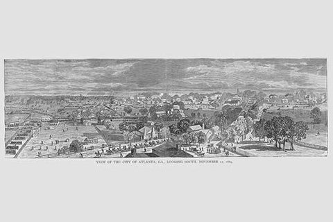Atlanta in 1864 Looking South