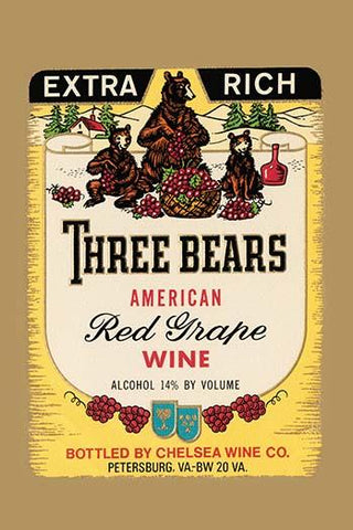 Extra Rich Three Bears American Red Grape Wine