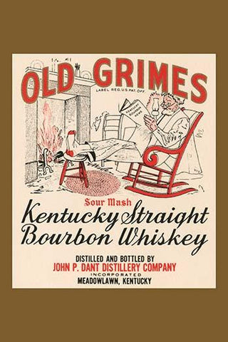 Old Grimes Sour Mash Kentuck Straight Bourbon Whiskey
