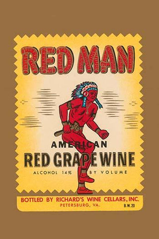 Red Man American Red Grape Wine