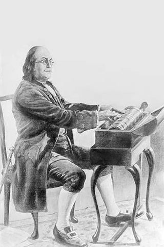 Benjamin Franklin Playing the Armonica