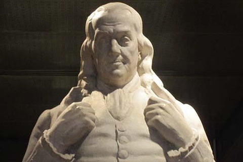 Benjamin Franklin statue at National Portrait Gallery