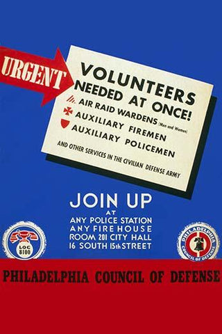 Volunteers Needed at Once!