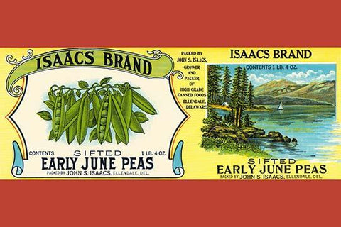 Isaacs Brand Early June Peas