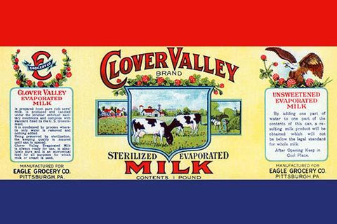 Clover Valley Brand Sterilized Evaporated Milk