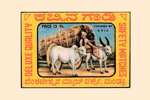 Brahma Bulls and Cart