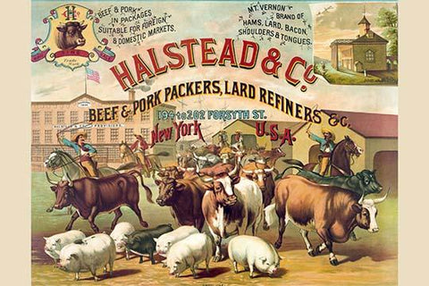Halstead & Co. beef & pork Packers, Lard Refiners & Co.