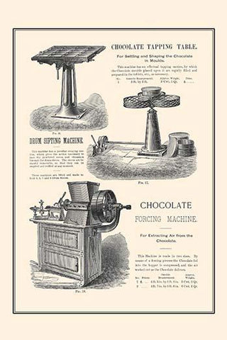 Chocolate Tapping Table & Forcing Machine
