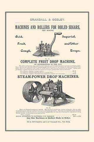 Boiled Sugar Roller & Steamed Powered Drop Machines
