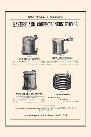Bakers and Confectioner's Stoves