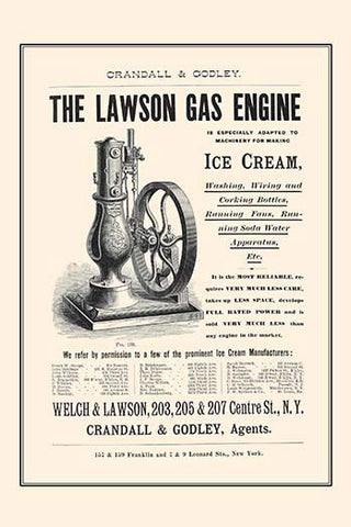 The Lawson Gas Engine