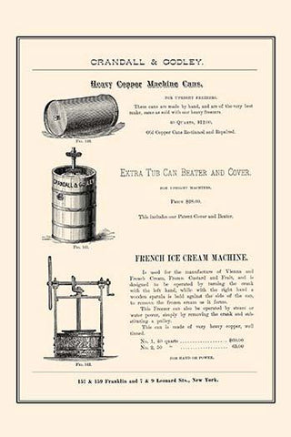 Machine Can, Beater, & French Ice Cream Machine
