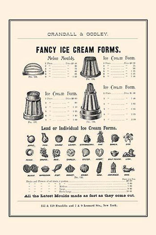 Fancy Ice Cream Forms