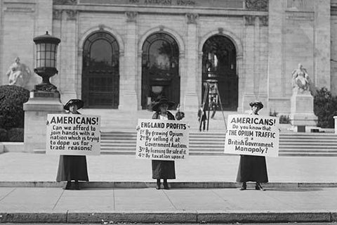 American Women Protest Opium Trade