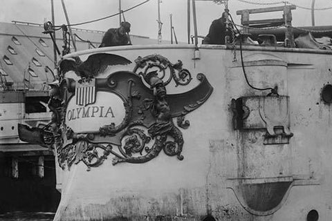 Stern Plate of the Battleship Olympia