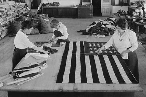 Sewing the Flags of the Great War