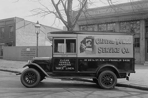 Capitol Towel Service Company Truck in DC