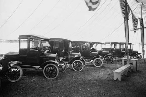 Automobiles on Display in Showroom Interior