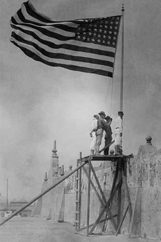 As a result of the Tampico Affair, the US Military invades Mexico and raises the Flag in Vera Cruz