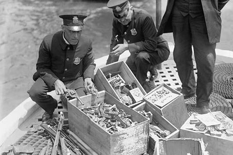 New York Police Destroy Boxes of Revolvers