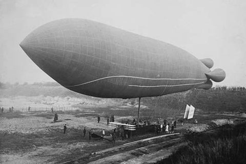 Clement-Bayard Dirigible Ready for Flight to Carry plane aloft