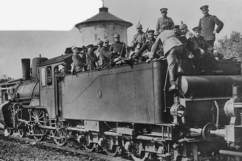 German Troop Train bringing Infantry to the Russian Front
