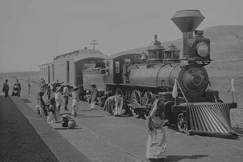 Mexican Central Railway train at station, Mexico