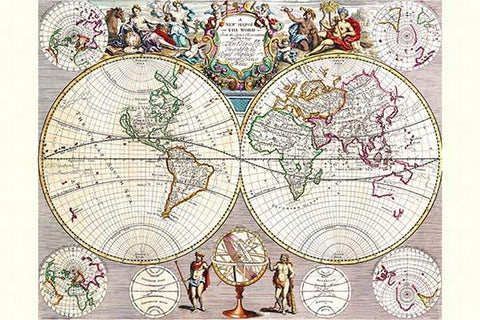 World Map with Figural Representations of the World's Peoples