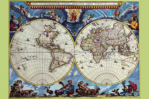 Stereographic Map of the World - Theatrum Orbis Terrarum