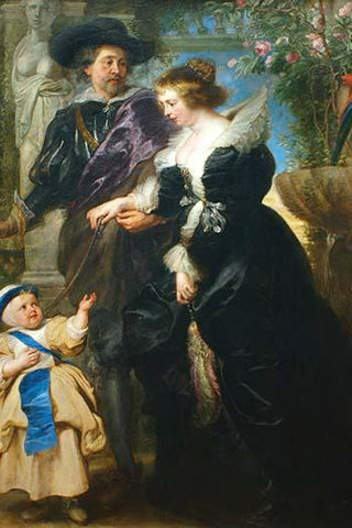 Rubens, His wife Helena Fourment & One of the Their Children