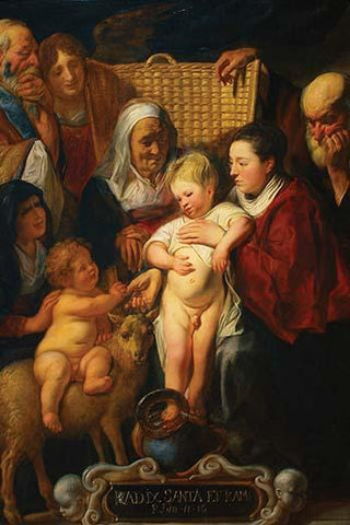 The Holy Family with Saint Anne & the Young Baptist & His Parents