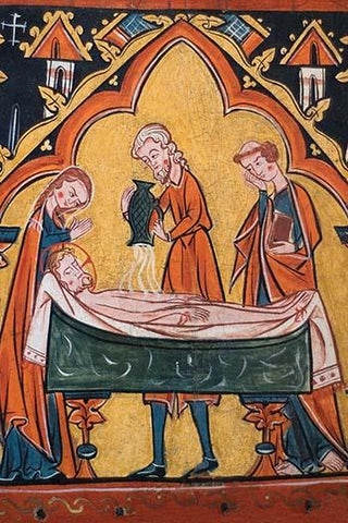 Preparation of Christ's Body for His Entombment