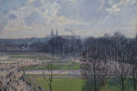 Garden of the Tuileries in a winter morning