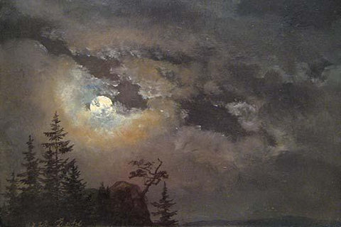 A Cloud & Landscape Study By Moonlight