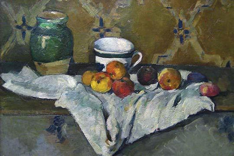 Still Life with Cup, Jar & Apples