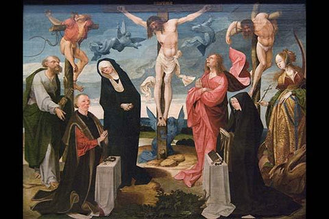 The Crucifixion with Donors and Saints Peter and Margaret,